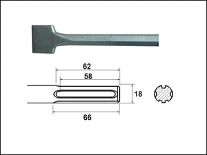 SDS Max Scaling Chisel 75mm x 300mm (FAITHFULL)