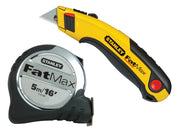 Stanley FatMax Tape Measure 5m/16ft (Width 32mm) & Retractable Utility Knife - STA533886AV