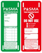 Scaffold Tag Record - Pack of 10 (PASMA)