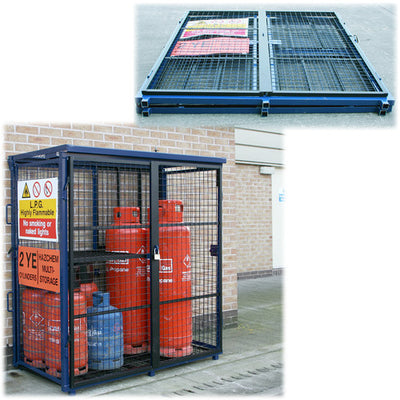 Folding Gas Cage H1650 x W1580 x D760mm (4 X 47KG + 8 X 19KG)