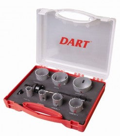 Plumbers Hole Saw Kit - 10pc Dart