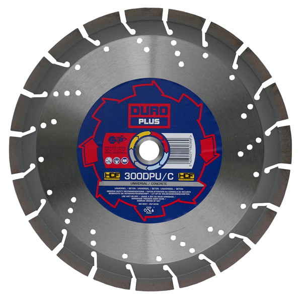 DURO DPU/C Diamond Blade 125mm / 5in - Universal Concrete Blade - View Cutting Details