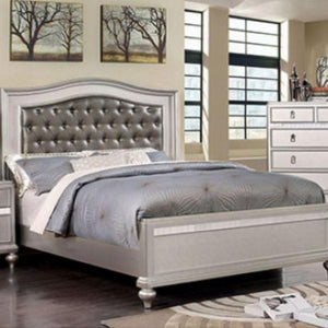 ARISTON - Contemporary - Silver - Queen - Bed Frame