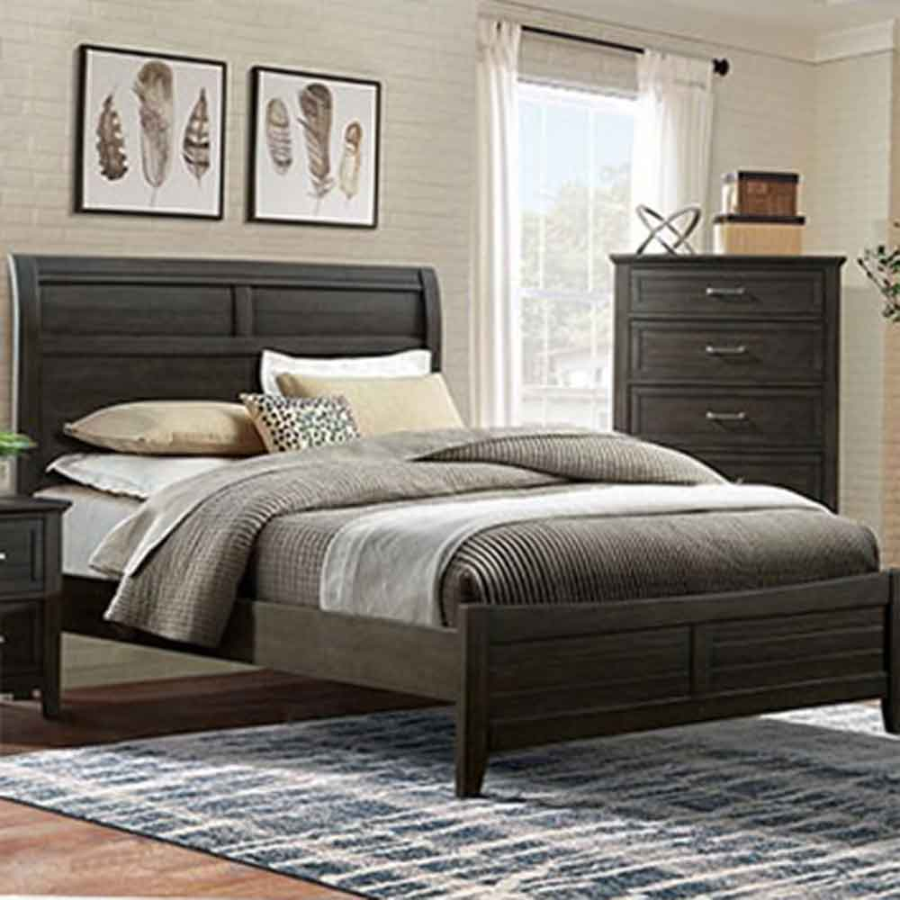 Alaina - Transitional - Walnut - California King - Bed Frame