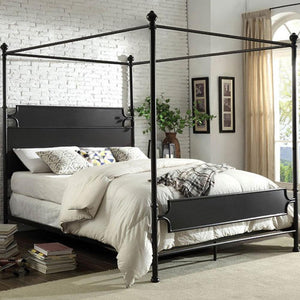 BEATRIX - Transitional - Powder Coated Black - Queen - Bed Frame