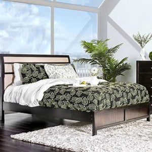 BERENICE - Transitional - Beige - King - Bed Frame