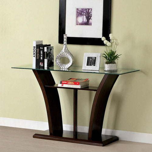 Manhattan Contemporary Brown Cherry Living Room Sofa Table