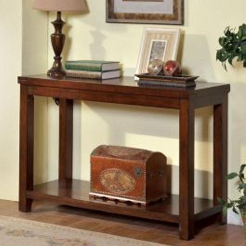 Estell transitional Dark Cherry Living Room Sofa Table