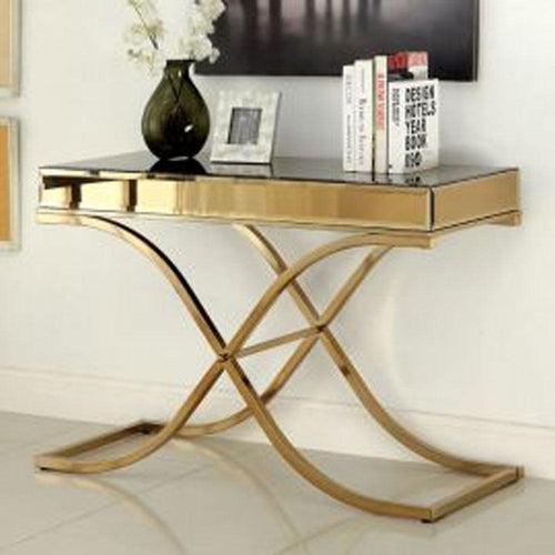 Sundance Contemporary Brass Living Room Sofa Table