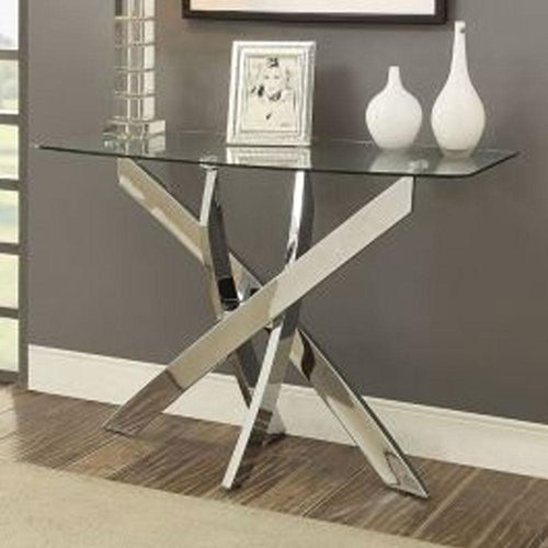 Laila Contemporary Chrome Living Room Sofa Table