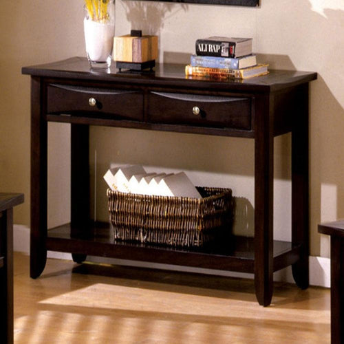 Baldwin Transitional Espresso Living Room Sofa Table