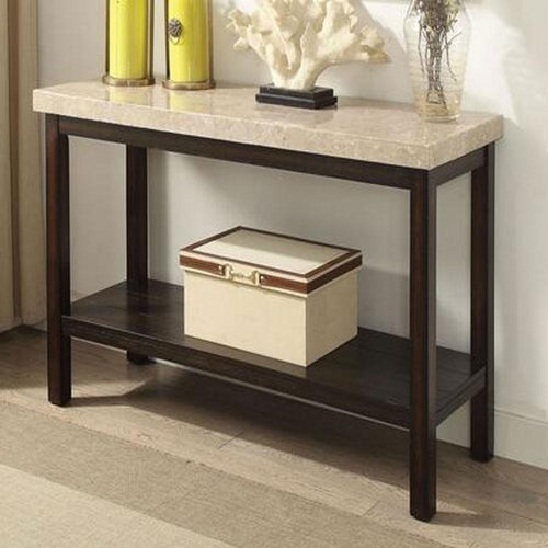 Cargary Transitional Ivory Living Room Sofa Table