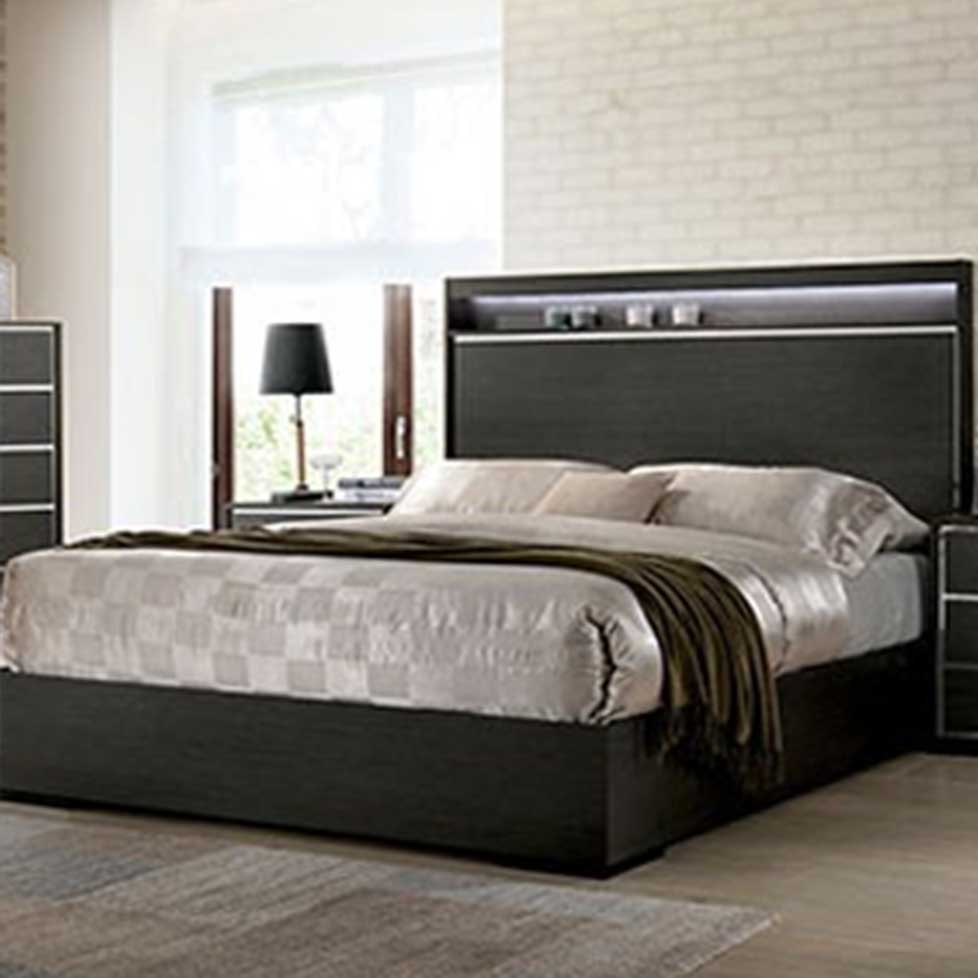 Camryn - Contemporary - Warm Gray - Queen - Bed Frame