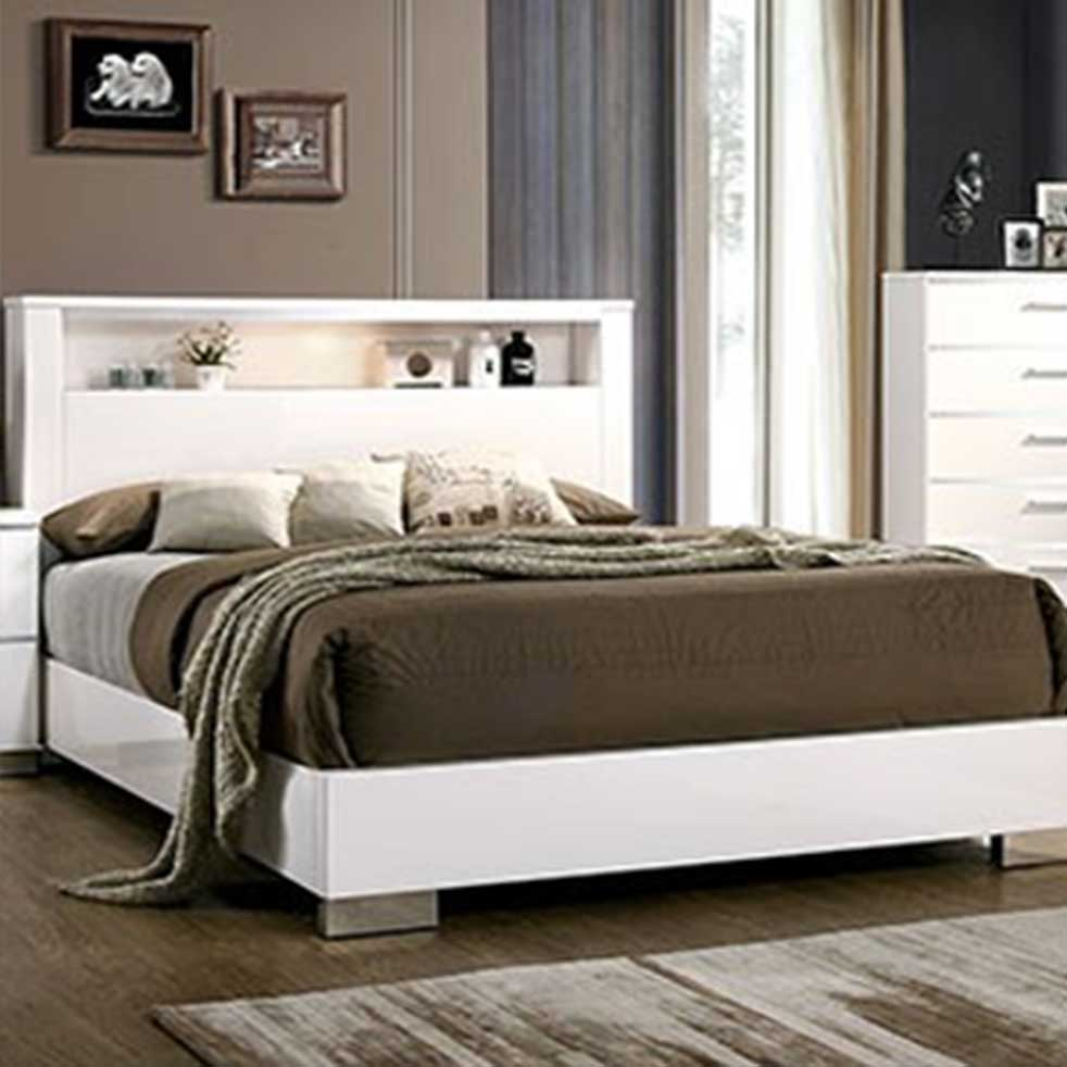 Carlie - Contemporary - White - Queen - Bed Frame