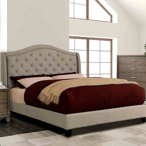 Charley - Grey - King Size - Bed Frame