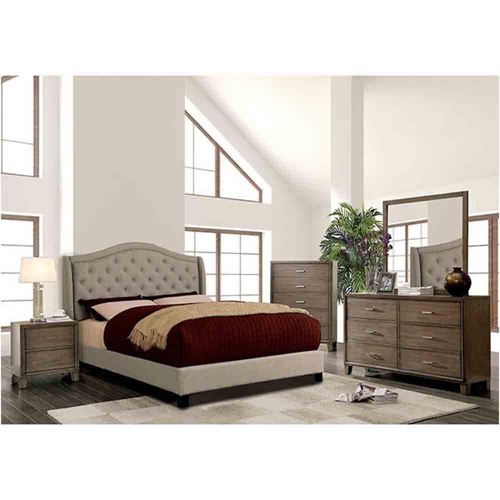Charley - Grey - Cal King Size - 4 Piece Set