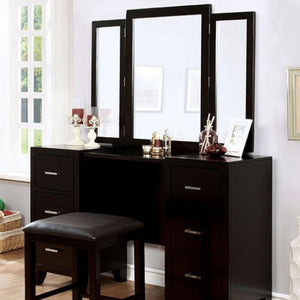 ENRICO - Transitional - Espresso - VANITY W/ STOOL