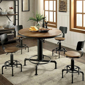 Fran  - Industrial - Sand Black/Light Oak - Dining Table