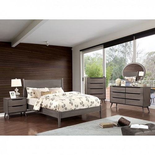 Mid-Century Driftwood Grey Complete Bedroom Set