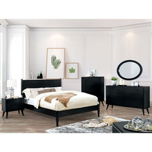 Load image into Gallery viewer, Mid-Century Elegant Black Complete Bedroom Set