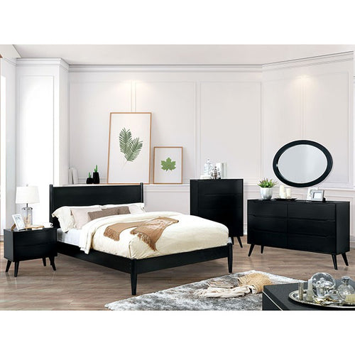 Mid-Century Elegant Black Complete Bedroom Set