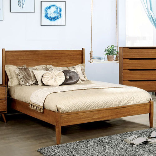 Mid-Century Fine Oak Bed