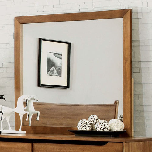 Mid-Century Fine Oak Rectangular Mirror