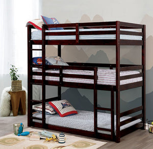 Bunks Collection Triple Twin Bunk Bed