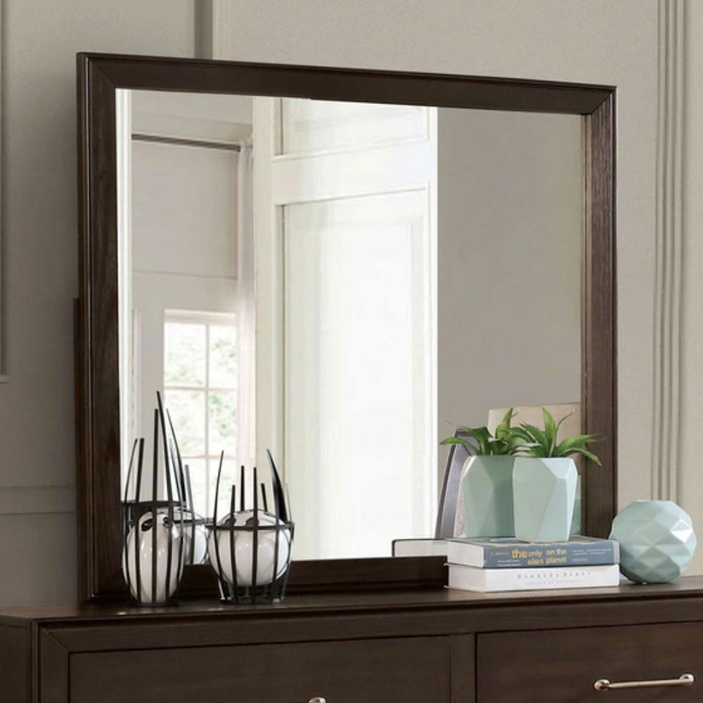 Jamie - Transitional - Walnut - Mirror