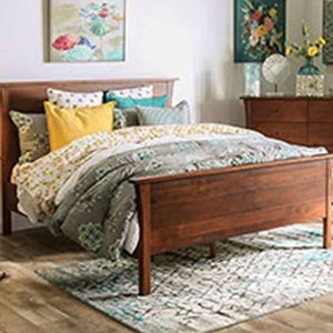 Keizer  - Mid-Century Modern - Dark Cherry - California King - Bed Frame