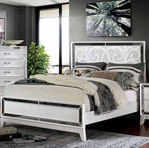 Lamego - Contemporary - White - California King - Bed Frame