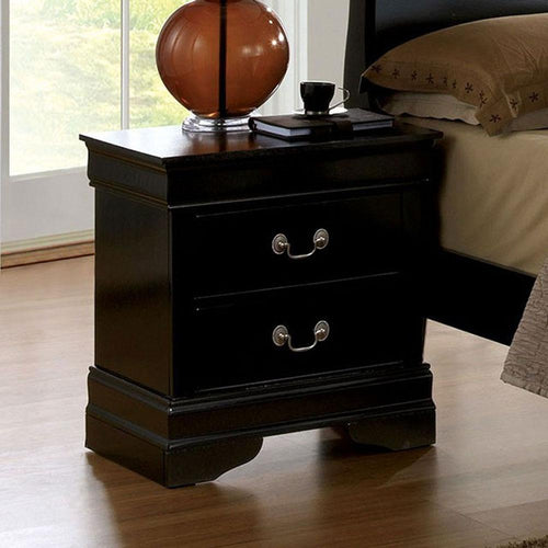 Louis Philippe - Transitional - Black - Night Stand