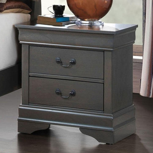 Louis Philippe - Transitional - Gray - Night Stand