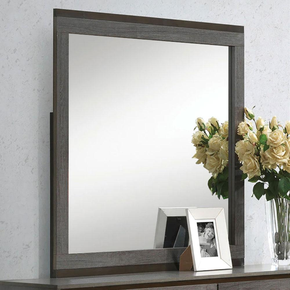 MANVEL - Contemporary - Two-Tone Antique Gray - MIRROR