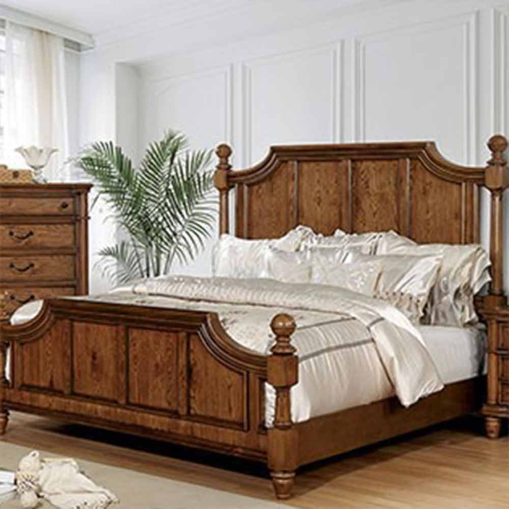 Mantador - Traditional - Dark Oak - Queen - Bed Frame