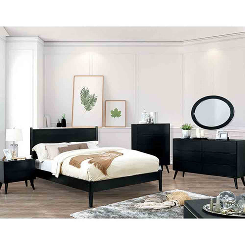 Mid-Century Elegant Black - King Size - 4 Piece Set