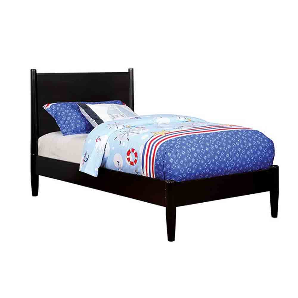 Mid-Century Elegant Black - Twin Size - Bed Frame
