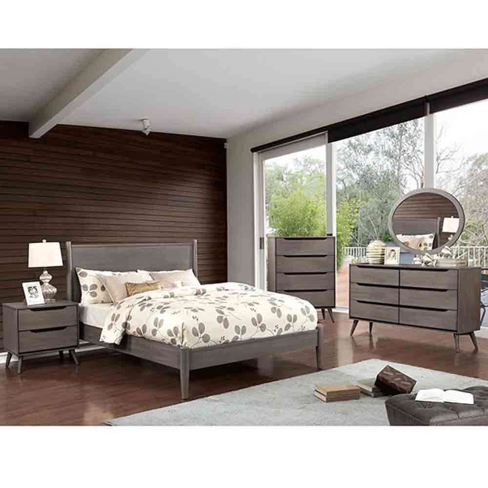 Mid-Century Driftwood Grey - King Size - 6 Piece Set