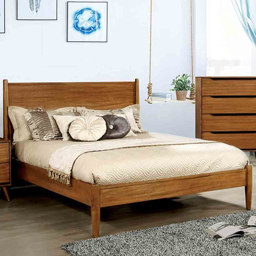 Mid-Century Fine Oak - King Size - Bed Frame