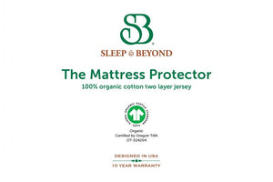 Organic Cotton Waterproof Mattress Protector - Hypoallergenic Cotton