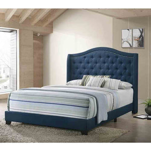 Sophia Upholstered - Blue - Full Size - Bed Frame