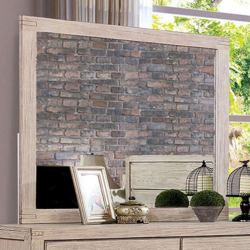 Strasburg - Rustic - Wire-Brushed White - Mirror