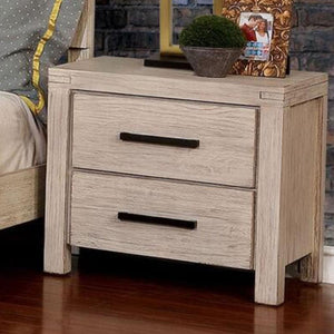 Strasburg - Rustic - Wire-Brushed White - Night Stand