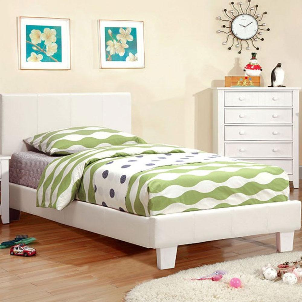 WINN PARK - Contemporary - White - Twin - Bed Frame