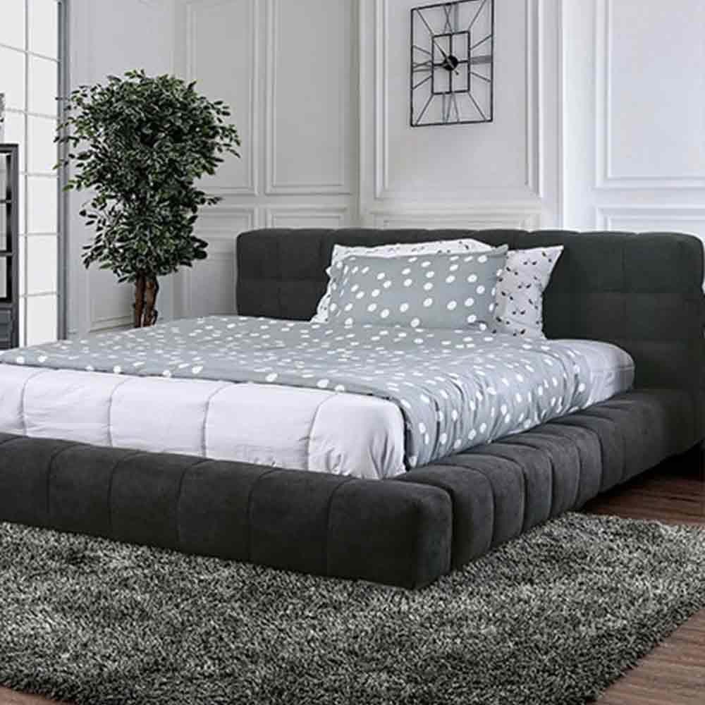 WOLSEY - Contemporary - Dark Gray - King - Bed Frame
