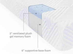 Wellsville 8 Inch Gel Foam Queen Mattress