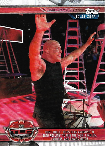 #007 Kurt Angle Joins Dean Ambrose & Seth Rollins to Win the 5-on-3 Tables, Ladders, and Chairs Match WWE-CMP19-007