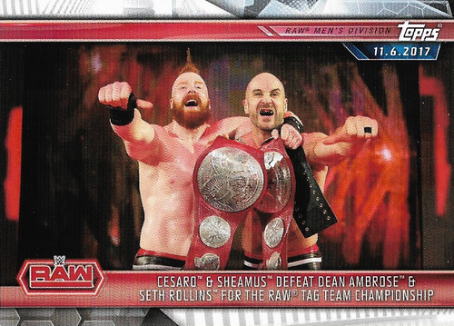 #009 Cesaro & Sheamus Defeat Dean Ambrose & Seth Rollins for the Raw Tag Team Championship WWE-CMP19-009