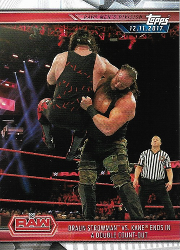 #017 Braun Strowman vs. Kane Ends in a Double Count-Out WWE-CMP19-017