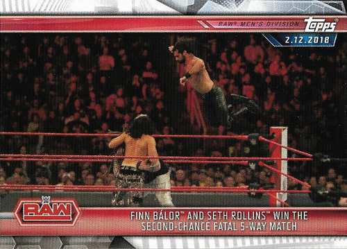 #026 Finn Ba?lor and Seth Rollins Win the Second-Chance Fatal 5-Way Match WWE-CMP19-026